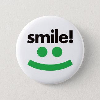 Lächeln - Grün Runder Button 5,1 Cm