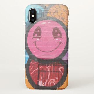 Lächeln-Houston-Graffiti iPhone X Hülle