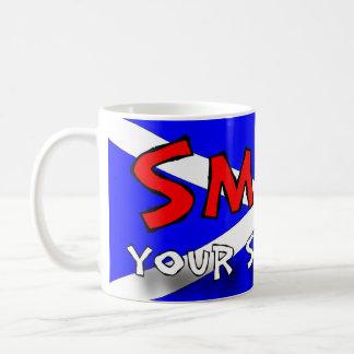 Lächeln Ihre Scottish Kaffeetasse