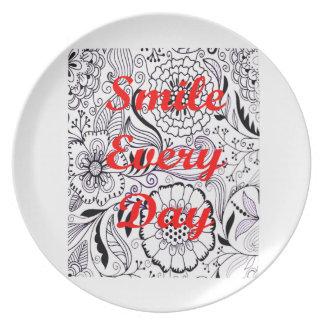 Lächeln jeder Tag Teller