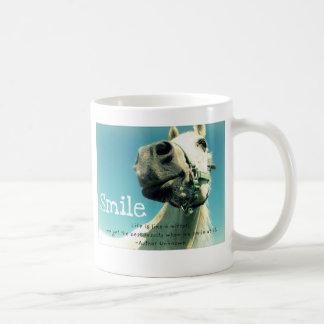 Lächeln Kaffeetasse