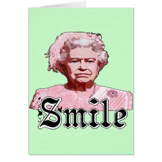Lächeln Grußkarte