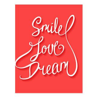 Lächeln-Liebe-Traum Postkarte