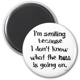 Lächeln Kühlschrankmagnet
