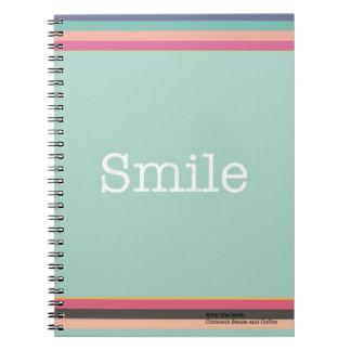 Lächeln-Notizbuch Spiral Notizblock