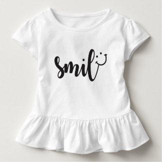 Lächeln-Panda-Kleinkind-Rüsche-T-Stück Kleinkind T-shirt