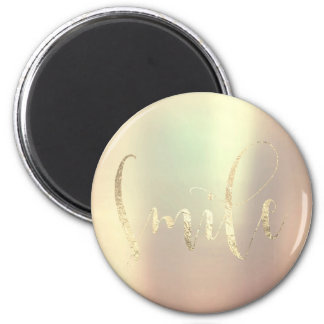 Lächeln-Rosen-GoldFoxier rosa Freund-Ermutigung Runder Magnet 5,7 Cm