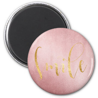 Lächeln-Rosen-Goldgrün Freund-Ermutigung Runder Magnet 5,7 Cm