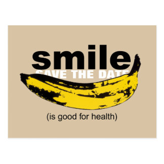 Lächeln - Save the Date 50. Geburtstags-Postkarte Postkarten