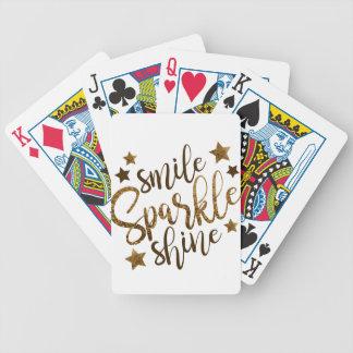Lächeln, Schein, Glanz Bicycle Spielkarten