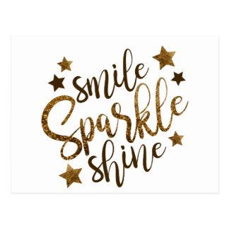 Lächeln, Schein, Glanz Postkarte