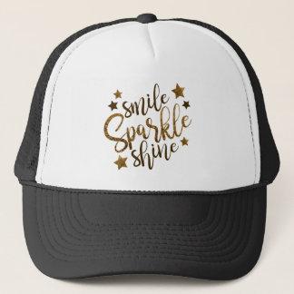Lächeln, Schein, Glanz Truckerkappe