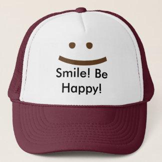 Lächeln! Seien Sie glücklich! Truckerkappe