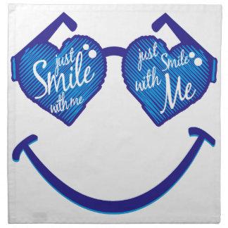 lächeln Sie einfach mit mir, Liebe und glases Serviette