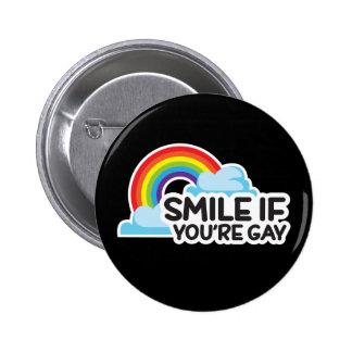 Lächeln Sie, wenn Sie homosexueller Stolz des Runder Button 5,1 Cm