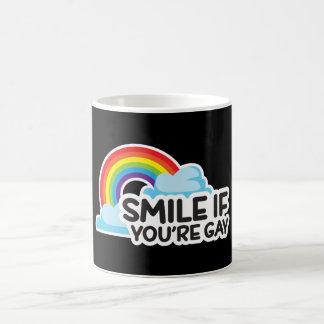 Lächeln Sie, wenn Sie homosexueller Stolz des Tasse