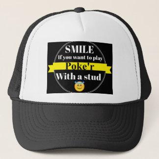 Lächeln Sie, wenn Sie Poke'r spielen möchten Truckerkappe