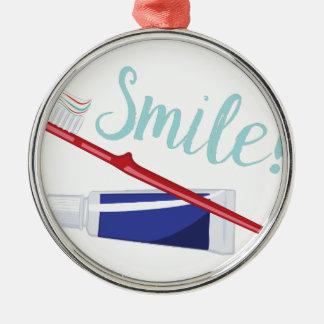 Lächeln Silbernes Ornament