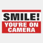 Lächeln sind Sie auf Kamera-Aufklebern Rechteckiger Aufkleber