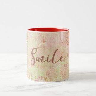 Lächeln-Tasse Zweifarbige Tasse
