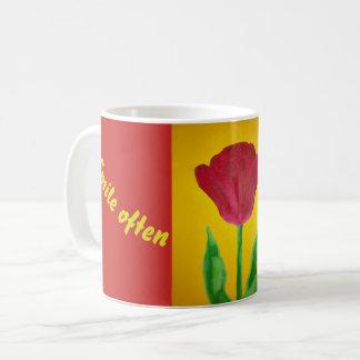 Lächeln-Tulpe-Tasse Kaffeetasse