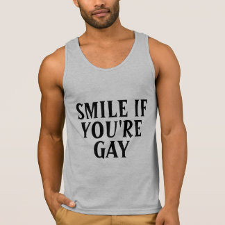 Lächeln wenn Homosexuelles Tanktop