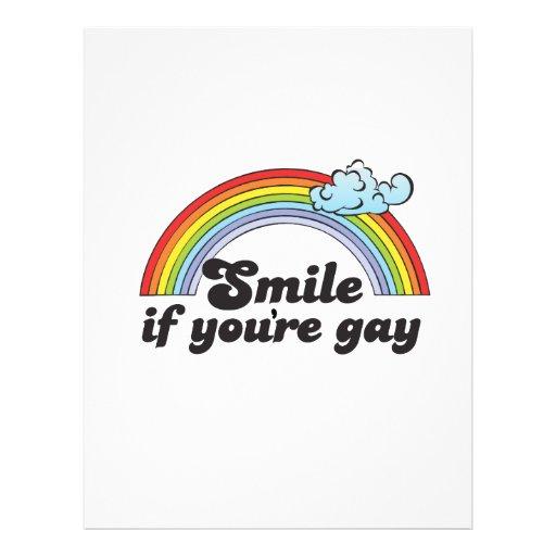 LÄCHELN, WENN SIE HOMOSEXUELL sind 21,6 X 27,9 Cm Flyer