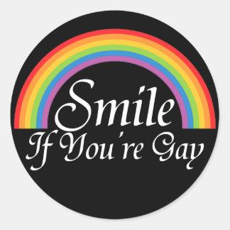 Lächeln, wenn Sie homosexuell sind Stickers