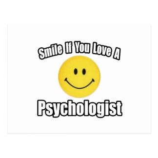 Lächeln wenn Sie Liebe ein Psychologe Postkarte
