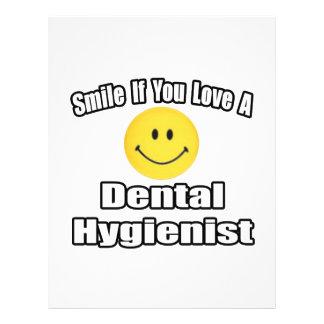 Lächeln wenn Sie Liebe ein Zahnarzthelfer Personalisierte Flyer