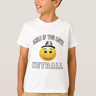 Lächeln wenn Sie Liebe Netball. T-Shirt