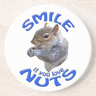 Lächeln wenn Sie Liebenüsse Sandstein Untersetzer