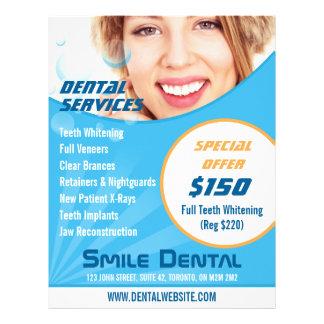 Lächeln-Zahnarzt-Services mit Sonderangebot-Flyer Flyer