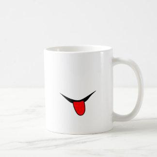 Lächeln - Zunge Kaffeetasse