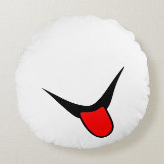 Lächeln - Zunge Rundes Kissen
