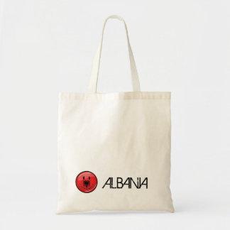 Lächelnde albanische Flagge Tragetasche