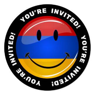 Lächelnde armenische Flagge Quadratische 13,3 Cm Einladungskarte