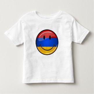 Lächelnde armenische Flagge Kleinkind T-shirt