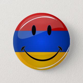 Lächelnde armenische Flagge Runder Button 5,7 Cm