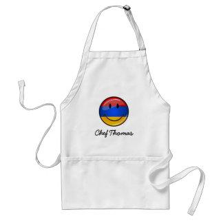 Lächelnde armenische Flagge Schürze