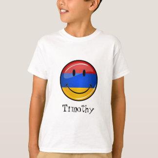 Lächelnde armenische Flagge T-Shirt
