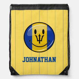 Lächelnde Barbados-Flagge Sportbeutel