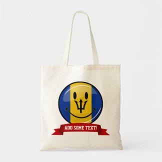 Lächelnde Barbados-Flagge Tragetasche