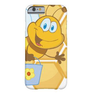 Lächelnde Biene halten einen Eimer Barely There iPhone 6 Hülle