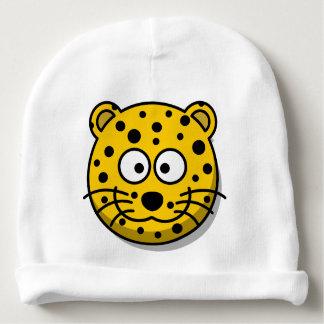 Lächelnde Cartoon-Leopard-Katze Babymütze