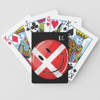 Lächelnde Dänemark-Flagge Bicycle Spielkarten