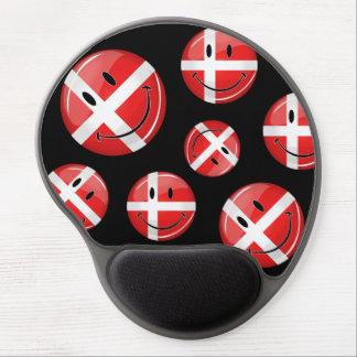 Lächelnde Dänemark-Flagge Gel Mousepad