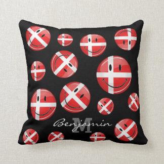 Lächelnde Dänemark-Flagge Kissen
