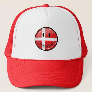 Lächelnde Dänemark-Flagge Truckerkappe