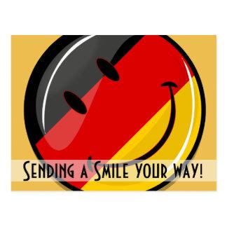 Lächelnde deutsche Flagge Postkarte
